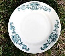 Longchamp Terre de Fer Lutéce assiette ancienne Antique French Plate