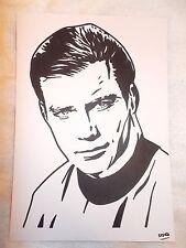 Marcador de tinta negra A4 Pluma de Dibujo William Shatner como el capitán James T Kirk