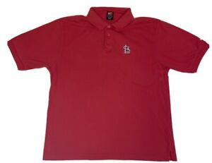 VTG Nike Team Dri-Fit St Louis Cardinals Polo Shirt Mens Size Large EUC Red