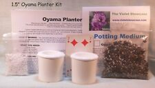 Oyama Planter Kit 1 ½ � white self-watering pot Great for Mini African violets