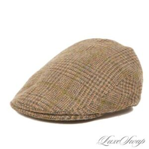 Purdey Made in England Olive Multi Check Prince of Wales Tweed Driving Hat 57 7