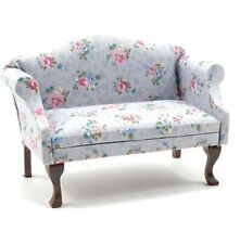 Dollhouse Miniature 1 12 Scale Grey Floral Fabric Sofa by Handley House