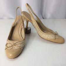 Melian Tan Leather Sling Back Pump Heels Size 9 M
