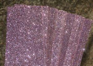 Glitter Card  A4 (210 x 297mm) Approx. 250gsm - LIGHT PINK 4 Pk