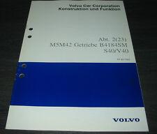 Werkstatthandbuch Volvo S 40 / V 40 M5M42 Getriebe B 4184 SM Stand 02/1998