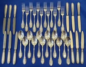 Rino Greggio Padua Italy c1950 800 Silver 3 Piece Place Setting No Mono Set 12