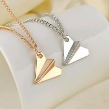 Combo Silver+Gold Small Band Harry Style Air Paper Plane Pendant Necklace Chain
