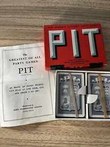 Vintage Waddington's PIT card game 100% Complete
