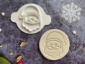 Santa | Embossing Stamp | ebs202 | Christmas | Cupcake | Fondant Cake