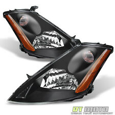 Black For 2003-2007 Murano Halogen Headlights Headlamps Replacement Left+Right