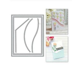 Background Metal Cutting Die Frame Scrapbooking Making Cards Embossing Stencils