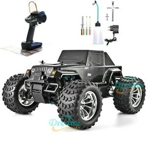 RC Truck Nitro Gas Powered Hobby Car Two High Speed Off Road Monster Truck 1:10