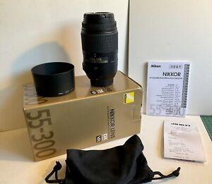 "Nikon Nikkor 55-300mm f/4.5-5.6 ED VR DX G Lens ""New Condition"""