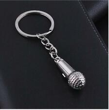 2017 NEW HOT Silver Microphone Keyring - Metal Keychain