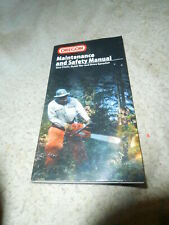 Oregon Chainsaw Chain sharpening Safety and Maintenance Manual Booklet
