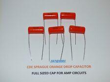 Sprague Orange Drop 715p Film And Foil 047uf 600v Capacitors Set Of 5