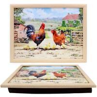 Leonardo Collection Cockerel and Hen 2020 Design Lap Tray - Farm Design Serving