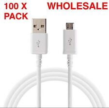100x Micro USB Data Cable Mini USB For Samsung Android Regular Wholesale Lot 3Ft