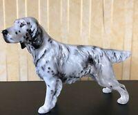 ROYAL DOULTON DOG ENGLISH SETTER MODEL No. HN 1050 MEDIUM GREY & WHITE GLOSS VGC