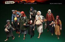 Kit De Resina De 1/35 S-3070 de 1941-45 refugiados ruso, Stalingrado grandes figuras Set (10)