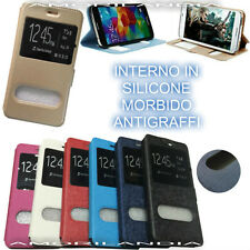 FLIP COVER BACK A LIBRO MAGNETICA - S-VIEW TOUCH PELLI IN PER APPLE IPHONE 4 4S