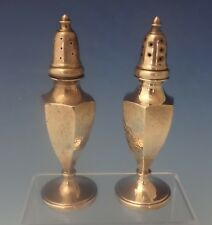 Sterling Silver Salt & Pepper Shakers 2pc Hand Hammered (#0217)