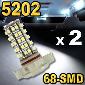 5202 5201 H16 Super White 68-SMD LED Bulbs For Driving Fog Light 2 pcs