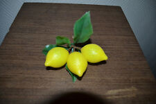 BRANCHE 3 CITRONS FRUIT ARTIFICIEL LEGUME FLEUR ARTIFICIELLE NEUF VINTAGE DECO