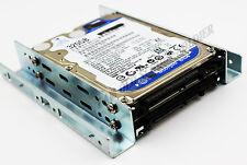 """2.5"""" to 3.25"""" SSD/HDD 2 Bay Metal Adapter Bracket Converter Mounting Kit +Screws"""