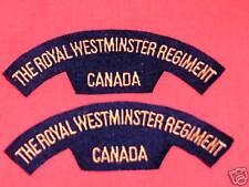 ROYAL WESTMINSTER REGIMENT CANADA Shoulder Flashes