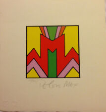 Peter Max, Geometric II, Litho on Paper, LE, Signed & Numbered-  #135/300