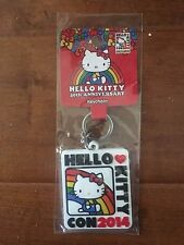 NEW IN PACKAGE Hello Kitty Con 2014 Rainbow Keychain Exclusive