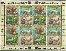 Timbres Animaux Nations Unies Genève F 401/4 ** année 2000 lot 4153