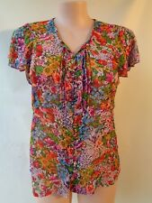 Katies top size 18 lovely floral print short sleeved