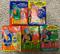1987-88-89-90-91-Lot-ALL (5) Topps FOOTBALL NFL-Wax Packs Cards-BO JACKSON-RC ??