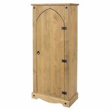 Corona Storage Cupboard Solid Pine 1Door Wooden Mexican Vestry Cabinet Shelving