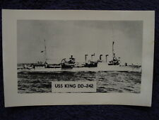 Vintage RPPC USS KING Destroyer US Navy DD242 USN Real Photo Postcard LL Cook