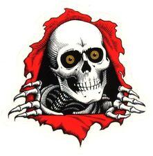 Powell Peralta Skateboard Sticker Ripper Rot Weiß Transp. 7,5x7,5cm Gestanzt
