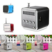 Portable Micro SD TF USB Mini Stereo Bass Speaker Music Player FM Radio PC MP3/4