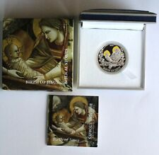 2012 Palau 2 Dollars, Birth of Jesus, Biblical Stories Religion Silver Coin Rare
