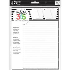 Create 365 White Note & Graph Happy Planner Fill Paper Me & My BIG Ideas!