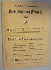 Amtliches Fernsprechbuch Kreis Stollberg 1960 Meinersdorf / Oelsnitz/Erzgeb. !