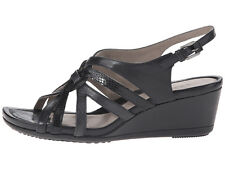 New ECCO Touch 45 Wedge Leather Women Sandals Size 10-10.5