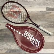 Wilson Pro 95 Tennis Racquet 4 1/4 Vibra Control W/ Zippered Carry Case Maroon