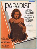"""""""PARADISE"""" from """"A WOMAN COMMANDS"""" w/ POLA NEGRI (1931 R.K.O. MOVIE)"""