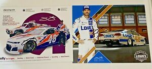 (2) Jimmie Johnson autographed LOWES ALLY THROWBACK DARLINGTON 8x10 HERO photos