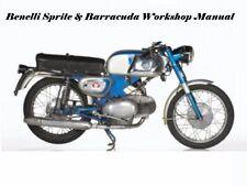 BENELLI WARDS BARRACUDA SPRITE SERVICE & PARTS MANUALs for 125 & 250 Motorcycles