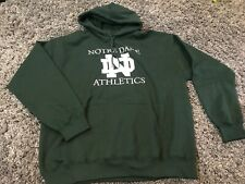 Gildan Notre Dame Athletics football basketball NY green white hoodie Irish ND L