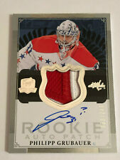 2013-14 Upper Deck The Cup ARP Auto Rookie Patch 124 Philipp Grubauer RC 33/249