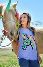🌵🌵 NEW!! Crazy Train Purple Unicorn Tank / Top / Shirt -LARGE/fits Like Medium
